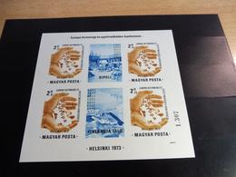Ungarn; 1973, 3. Juli, Blockausgabe, KSZE Helsinki - Blocks & Kleinbögen