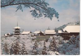 °°° 13449 - JAPAN - KIYOMIZU TEMPLE OF KYOTO WITHIN THE PURE SNOW - 1979 With Stamps °°° - Altri