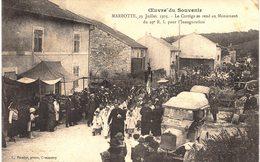 CARTE POSTALE Ancienne  De MARBOTTE - 29 Juillet 1923, Cortége Vers Le Monument Du 29°RI - France