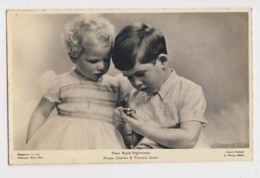 AI75 Royalty - Their Royal Hignesses Prince Charles And Princess Anne - RPPC - Royal Families