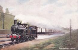AS68 Trains - LNWR Wild Irishman Taking Water At Bushey - Tuck Oilette - Trains