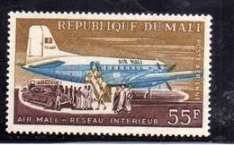 MALI 1963 AIR MAIL POSTE AERIENNE NATIONAL LINE PLANE LOADING 55f MNH - Mali (1959-...)