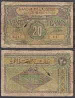 Algeria 20 Francs 1948 (VG) Condition Banknote P-103 - Algeria