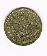 //  PERU  20  CENTIMOS  2001 - Peru