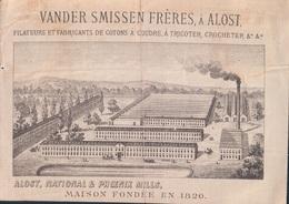 Aalst Vander Smissen Frères à Alost Filateurs Et Fabricants De Coton (prentje Is 8,5 X 12 Cm) National & Phoenix Mills - Aalst