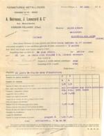 FACTURE 1932 A. BOIREAUX ET LAVEZARD FERMETURES METALLIQUES A VIERZON VILLAGES - 1900 – 1949