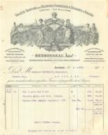 FACTURE 1906  BESSONNEAU FILATURES CORDERIES ET TISSAGES D'ANGERS A ANGERS - France