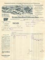 FACTURE 1913 GUSTIN FILS AINE ET A. GUSTIN FILS FONDERIES ACIERIES DE ST DOMINIQUE A DEVILLE ARDENNES - France