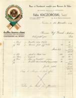 FACTURE 1934 FELIX KACZOROSKI  MANUFACTURE GENERALE DE MUNITIONS A NANTES - France