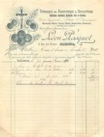 FACTURE 1901 LEON PASQUET FABRIQUE DE BIJOUTERIE ET SCULPTURE A SAUMUR - France