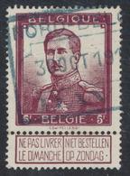 """Pellens - N°122 Obl Chemin De Fer Bleue """"Nord Belge / Dave"""" - 1912 Pellens"""