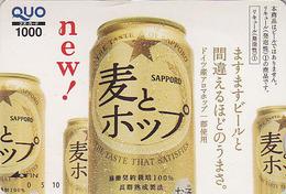 Carte Prépayée Japon - Boisson Alcool - BIERE SAPPORO - BEER  Japan Prepaid Quo Card - BIER  CERVEZA  - 824 - Publicité