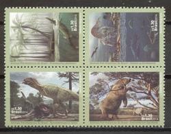 Brazil 2014 Brasil / Prehistoric Animals Dinosaurs MNH Dinosaurios / C8837   38-29 - Sellos