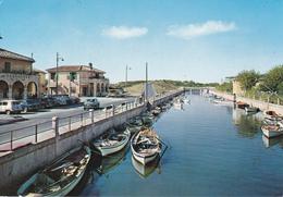 OSTIA LIDO - ROMA - CANALE DEI PESCATORI - RISTORANTE AL PESCATORE - INSEGNA PUBBLICITARIA BIRRA - AUTO - BARCHE - 1972 - Roma (Rome)