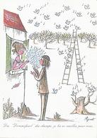 Carte Double  1 Er Jour Emission 13/11/1987 Timbre Noel Format 10,5 /15  Ill. Peynet Amoureux - Monaco