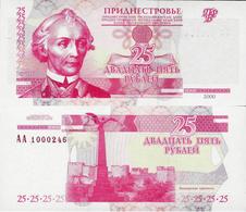 Transnistria 2000 - 25 Rublei - Pick 37 UNC - Andere