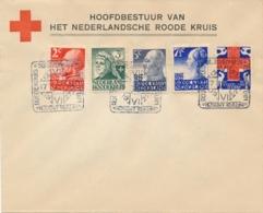 Nederland - 1927 - Red Cross - Rode Kruis Serie Met Dierentuinstempel (deels 1e Dag / FDC) Op Cover - Niet Gelopen - Briefe U. Dokumente