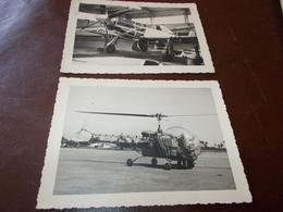 B687  2 Foto Elicotteri Cm11x8,5 Circa - Non Classificati