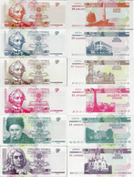 Transnistria 2000 - Set 6 Pcs. 1+5+10+25+50+100 Rublei - Pick 34-39 UNC - Andere