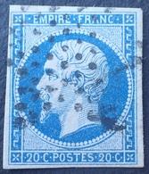 DF40266/355 - NAPOLEON III N°14B - ETOILE MUETTE De PARIS - 1853-1860 Napoléon III