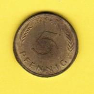 """GERMANY  5 PFENNIG 1979 """"F"""" (KM # 107) #5337 - [ 7] 1949-…: BRD"""