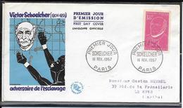 FDC 1957 - 1092  Victor SCHOELCHER - FDC