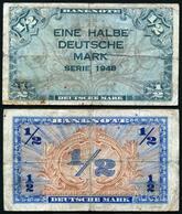 Germany - 1/2 Deutsche Mark 1948 Ro. 230 VF 1 Lemberg-Zp - 1945-1949: Alliierte Besatzung