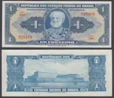 Brazil 1 Cruzeiro ND 1944 (VF+) Condition Banknote P-132 Series 116A - Brazilië