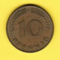 """GERMANY  10 PFENNIG 1969 """"D"""" (KM # 108) #5342 - 10 Pfennig"""