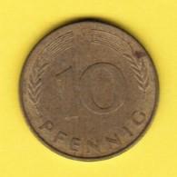 """GERMANY  10 PFENNIG 1979 """"J"""" (KM # 108) #5343 - 10 Pfennig"""