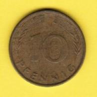 """GERMANY  10 PFENNIG 1981 """"F"""" (KM # 108) #5344 - 10 Pfennig"""