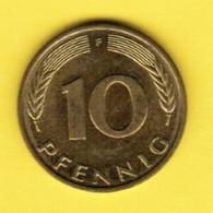 """GERMANY  10 PFENNIG 1996 """"F"""" (KM # 108) #5345 - [ 7] 1949-…: BRD"""