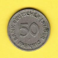 """GERMANY  50 PFENNIG 1949 """"F"""" (KM # 109) #5346 - [ 7] 1949-… : FRG - Fed. Rep. Germany"""