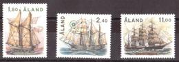 Aland - 1988 - N° 28 à 30 - Neufs ** - Navigation à Voiles - Aland