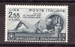 Italie - 1936 - N° 385 - Neuf ** - 2000 Ans Naissance Horace - Mint/hinged