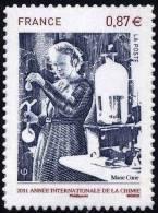 """FR Adhesif YT 524 (4532) """" Marie Curie """" 2011 Neuf** - Autoadesivi"""