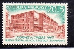 MADAGASCAR MALGACHE MALGASY REPUBLIC 1963 STAMP DAY JOURNEE DU TIMBRE 20f + 5f - Madagascar (1960-...)