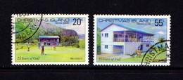 CHRISTMAS  ISLAND   1980    25th  Anniv  Of  Christmas  Island  Golf  Club    Set  Of  2       USED - Christmas Island