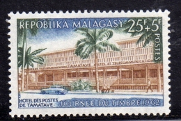 MADAGASCAR MALGACHE MALGASY REPUBLIC 1962 STAMP DAY JOURNEE DU TIMBRE POST OFFICE TAMATAVE 25f + 5f MNH - Madagascar (1960-...)