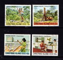 CHRISTMAS  ISLAND   1980    Phosphate  Industry    1st Series    Set  Of  4       USED - Christmas Island