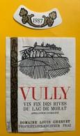 11147 -  Vully 1987 Louis Chervet  PrazSuisse - Etiquettes