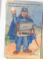 26- Romans Sur Isere  Carte A Systeme Donnez Moi Donc Un Petit Coup De Rouge Je Vous Apporte Une Carte - Romans Sur Isere