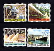 CHRISTMAS  ISLAND   1980    Phosphate  Industry    4th Series    Set  Of  4       USED - Christmas Island