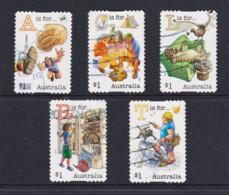 Australia 2016 Aussie Alphabet Part II Set Of 5 Self-adhesives Used - 2010-... Elizabeth II