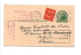 USA CARTE DE NEW YORK POUR LA FRANCE 1946 - Vereinigte Staaten