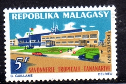 MADAGASCAR MALGACHE MALGASY REPUBLIC 1971 TROPICAL SOAP FACTORY TANANARIVE 5f MNH - Madagascar (1960-...)
