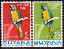 GUYANA 1967 SG 443-44 Used Christmas. Second Issue - Guyana (1966-...)