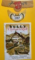 11152 - Vully Château De Praz 1987  François Chervet Suisse - Etiquettes