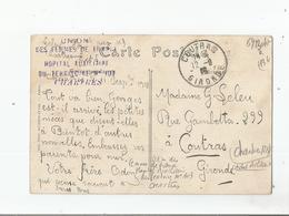 CHARTRES (28) CACHET MILITAIRE DE L'UNION DES FEMMES DE FRANCE HOPITAL AUXILIAIRE DU TERRITOIRE N° 103     1918 - Guerra Del 1914-18