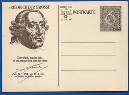 POSTKARTE à 6 + 4 Deutches Reich   III° Reich  Neufs   Friedrich Der Grosse - Briefe U. Dokumente
